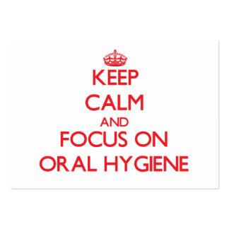 Keep Calm and focus on Oral Hygiene Business Card Templates