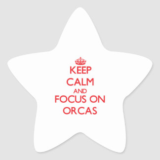 Keep calm and focus on Orcas Star Stickers