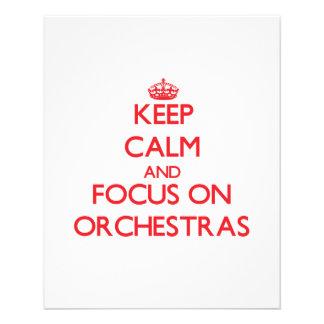 Keep Calm and focus on Orchestras Custom Flyer