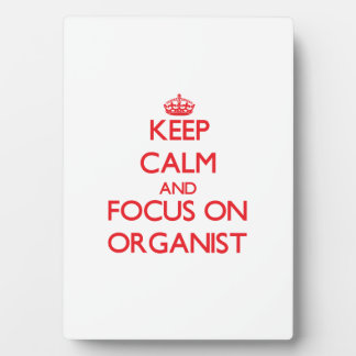 Keep Calm and focus on Organist Display Plaque