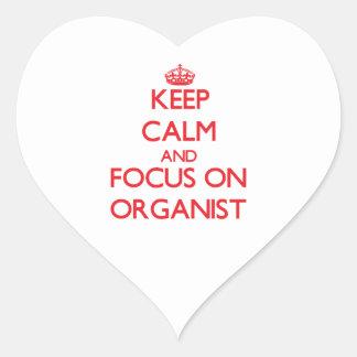 Keep Calm and focus on Organist Heart Sticker