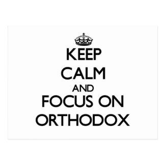 Keep Calm and focus on Orthodox Postcard