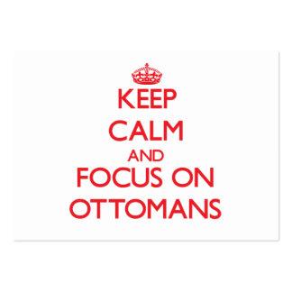 Keep Calm and focus on Ottomans Business Card Templates