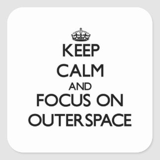 Keep Calm and focus on Outerspace Sticker