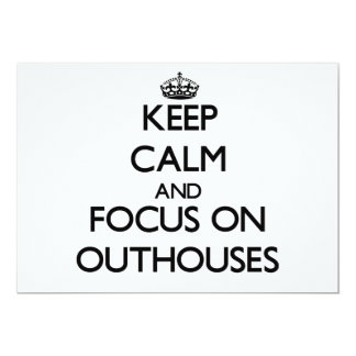 Keep Calm and focus on Outhouses Personalized Invites