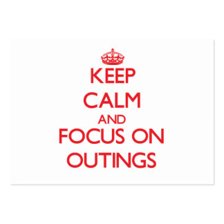 Keep Calm and focus on Outings Business Card Templates