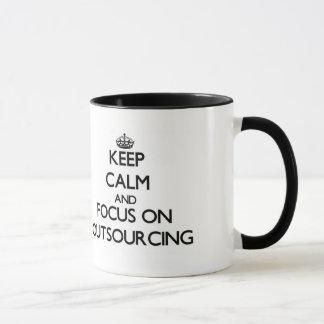 Keep Calm and focus on Outsourcing Mug