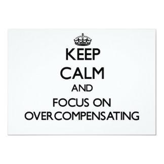 Keep Calm and focus on Overcompensating Custom Invitation