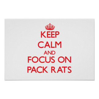 Keep Calm and focus on Pack Rats Posters