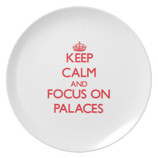 Keep Calm and focus on Palaces Party Plate
