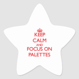 Keep Calm and focus on Palettes Star Sticker