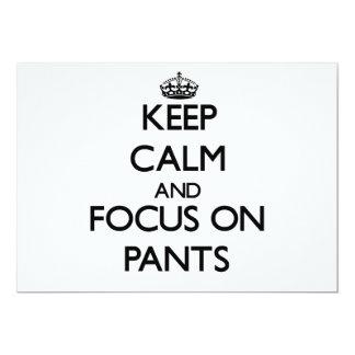 Keep Calm and focus on Pants Custom Invitation