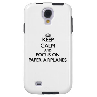 Keep Calm and focus on Paper Airplanes Galaxy S4 Case