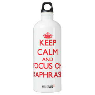 Keep Calm and focus on Paraphrasing SIGG Traveler 1.0L Water Bottle