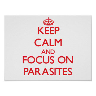 Keep Calm and focus on Parasites Posters