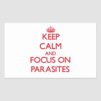 Keep Calm and focus on Parasites Rectangular Stickers