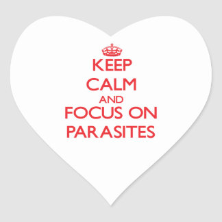 Keep Calm and focus on Parasites Sticker
