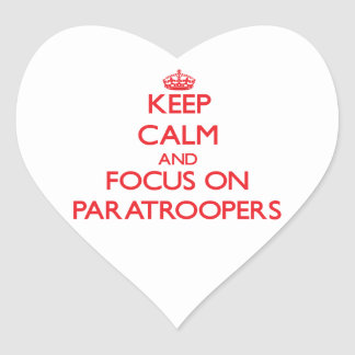 Keep Calm and focus on Paratroopers Sticker