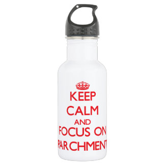 Keep Calm and focus on Parchment 18oz Water Bottle