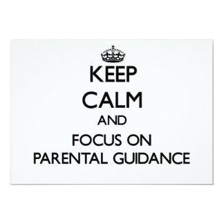 "Keep Calm and focus on Parental Guidance 5"" X 7"" Invitation Card"