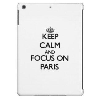 Keep Calm and focus on Paris iPad Air Case