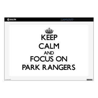 Keep Calm and focus on Park Rangers Laptop Skin
