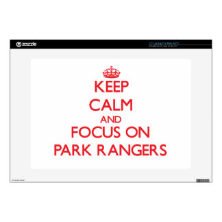 """kEEP cALM AND FOCUS ON pARK rANGERS 15"""" Laptop Decal"""