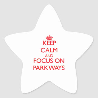 Keep Calm and focus on Parkways Star Stickers