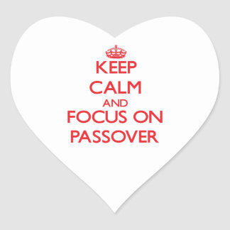 Keep Calm and focus on Passover Sticker