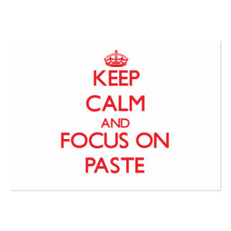 Keep Calm and focus on Paste Business Card Templates