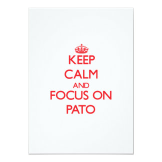Keep calm and focus on Pato 5x7 Paper Invitation Card