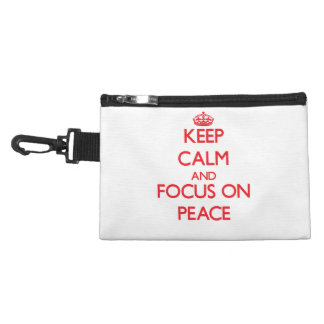 Keep Calm and focus on Peace Accessories Bags