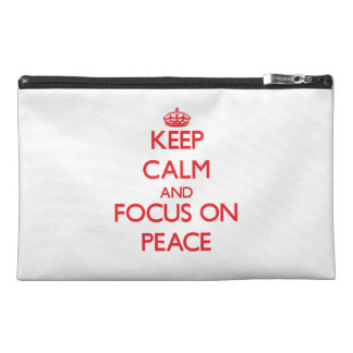 Keep Calm and focus on Peace Travel Accessories Bags