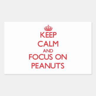 Keep Calm and focus on Peanuts Rectangular Sticker