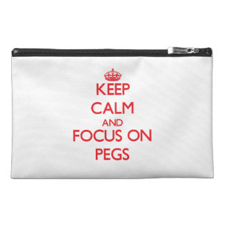 Keep Calm and focus on Pegs Travel Accessory Bag
