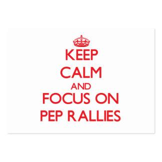 Keep Calm and focus on Pep Rallies Business Card