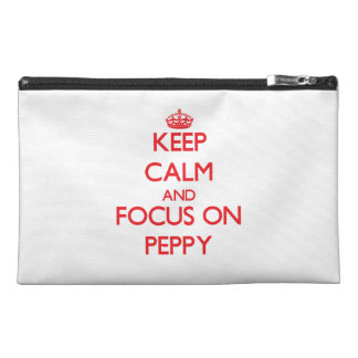 Keep Calm and focus on Peppy Travel Accessories Bag