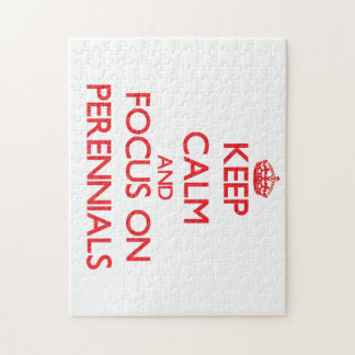 Keep Calm and focus on Perennials Puzzles