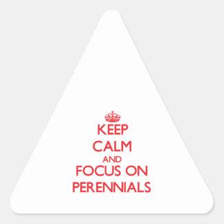 Keep Calm and focus on Perennials Sticker