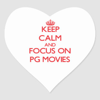 Keep Calm and focus on Pg Movies Heart Sticker
