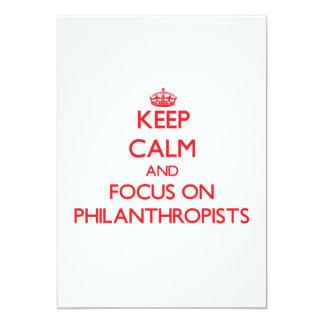 "Keep Calm and focus on Philanthropists 5"" X 7"" Invitation Card"