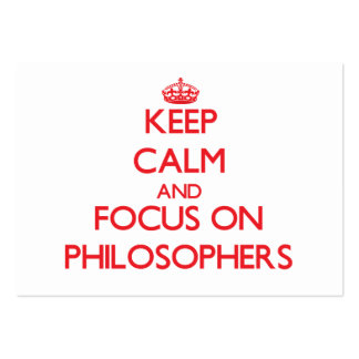 Keep Calm and focus on Philosophers Business Card Templates