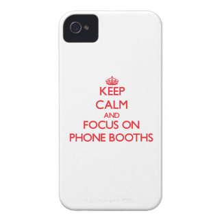 Keep Calm and focus on Phone Booths iPhone 4 Case-Mate Case