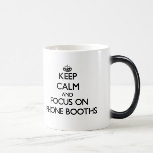 Keep Calm and focus on Phone Booths Coffee Mugs
