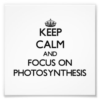 Keep Calm and focus on Photosynthesis Photo Print