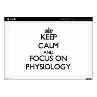 Keep Calm and focus on Physiology Laptop Skin