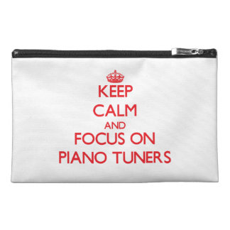 Keep Calm and focus on Piano Tuners Travel Accessories Bags