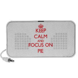 Keep Calm and focus on Pie Travel Speaker