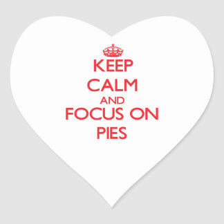 Keep Calm and focus on Pies Sticker