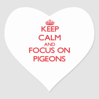Keep Calm and focus on Pigeons Sticker